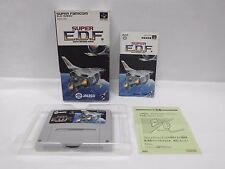 SUPER EARTH DEFENSE FORCE EDF -- Boxed. Super famicom, SNES. Japan game. 12005-1