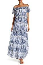 0647126c1d0 JOIE Villy Silk off The Shoulder Maxi Long Dress Periwinkle Blue Sz S