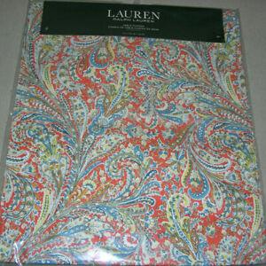 Ralph Lauren JACQUELINE PAISLEY Orange, Blue, Yellow & White Table Runner--NWT