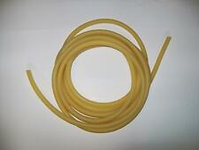 "10 feet AMBER  LATEX RUBBER TUBING 1/4"" ID x 3/8"" OD x 1/16 w SURGICAL TUBE"