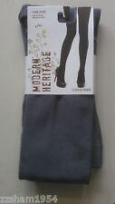 Modern Heritage Fleece TIGHTS W FOOT Gray Warm Soft Comfortable L / XL