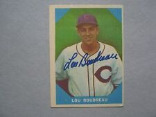 LOU BOUDREAU (Died in 2001) Cleveland Indians Signed 1960 Fleer Greats Card