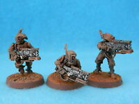WARHAMMER TAU EMPIRE  - PATHFINDERS X 3  PAINTED  METAL A4