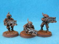 "Warhammer Tau Imperio-Voluntarios ""Pathfinder"" x 3 Metal Pintado A4"