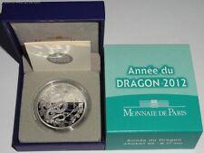 Francia 10 euros moneda de plata dragón 2012 en estuche