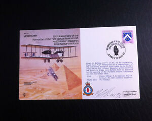 RAF B12 Flown & Signed FDC - Vickers Vimy - R.G Spencer (AFTAL)