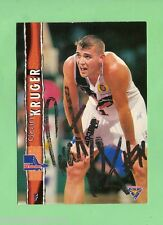 1995  FUTERA AUSTRALIAN BASKETBALL AUTOGRAPHED  CARD - GRANT KRUGER