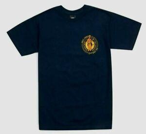 OBEY Émeute Division Hommes 100% Coton Basique T-Shirt M Noir Neuf