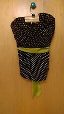 ODILLE STRAPLESS TOP BLOUSE SHIRT ANTHROPOLOGIE MULTI COLOR POLKA DOTS 4 BUSTIER