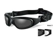 New Wiley X SG-1 Goggles Matte Black w/Smoke Grey/Clear Lenses #71 60MM