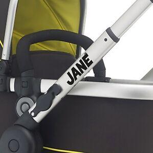 JANE Replacement pram logos. Vinyl decal pushchair, stroller. Transfer sticker