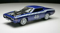 1971 Plymouth GTX 1/64 Diecast Diorama Car Metallic Blue
