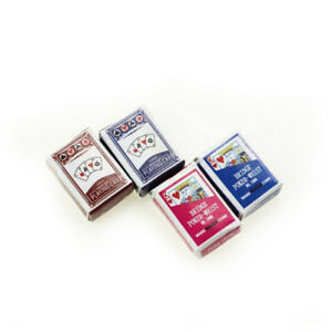 1:6/1:12 Dollhouse Miniatures Accessories Playing Card Poker Home Bar Decor YXAU