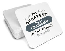 Great Granddad Gift Birthday Coaster For Him Christmas Xmas Personalised Present