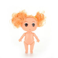 2X 8cm Doll with Double Blond Buns for ddung Girl Dolls as Dollhouse Girls Cu AT
