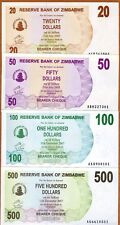 SET Zimbabwe, 20;50;100;500 dollars, 2006, P-40-41-42-43, UNC