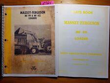 Massey Ferguson MF 99 Loader Owner Operator Manual 690 379 M3 5/62 + Parts 6/65
