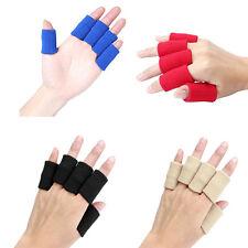 10x Elastic Finger Protector Sleeve Support Arthritis Sports Aid Straigh 4 Color
