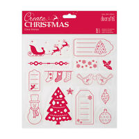 Papermania 203mm Clear Unmounted Christmas Stamp - Merry Christmas 14pcs *SALE*