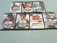 7 Game LOT/ BUNDLE PS2 Tiger Woods PGA Tour 2001-2007, Tested & Complete