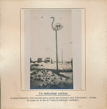 PHOTO PRESSE c. 1910 - Poteau Indicateur Ville de Venise en Californie USA - 208