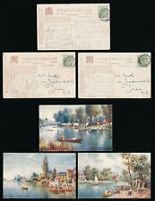 MIDDX TUCKS OILETTE 7713 STAINES THAMES POSTALLY USED BROADSTAIRS STATION KENT