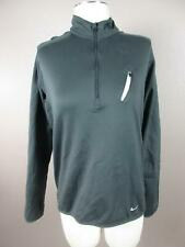 Nike Fit Dry Size M Mens Gray 1/4 Zip Sportswear Olympic Pullover 579