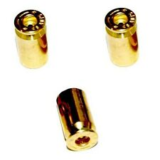 3 Real 45 Cal. ACP - Brass Bullet Shell Tire Air Valve Stem Caps For Trike