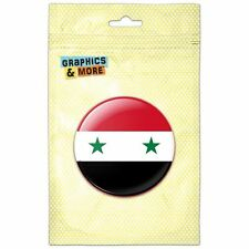 Syria National Country Flag Pinback Button Pin Badge