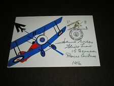 1968 GB Stamps ANNIVERSARIES 1s FDC SIGNED BY WORLD WAR 1 PILOT 15 Squadron RAF