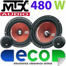 "Volkswagen Golf 91-98 MTX 6.5"" 480 Watts Component Kit Rear Door Car Speakers"