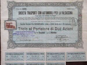 1907 SOCIETA' TRASPORTI CON AUTOMOBILI PER LA VALSASSINA - LECCO