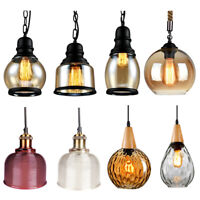 Modern Vintage Industrial  Pendant Glass  Light Lamp Shade  Ceiling Hanging Lamp