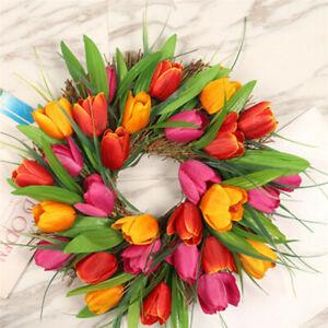 Valentine's Day Wreath Decor Artificial Tulip Flowers Fake Flower Bouquet