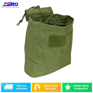 Green Folding Magazine Utility PVC Magazine Drop Dump Pouch MOLLE Gear Compact