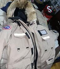 Canada Goose Arctic Program Fill Down Parka Coyote Fur Trim Hood Tan Mens Large