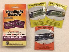 Headlight Restoration Kit From Clear Lights Tech,Lens Cleaning Wipes, RH1,Dandy