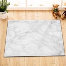 Gray White Marble Texture Rome Floor Carpet Area Rug Non-skid Kitchen Door Mat