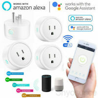 1-4X Wifi Smart Plug Outlet Remote Control US Socket Work with Alexa&Google Home