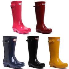 Hunter Original Kids Gloss Junior Rubber Boots Size UK 1 - 5 EU 30 - 38