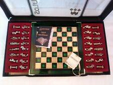 Manopoulos Mini Chess Set Greek Mythology Certificate Brass Copper Board