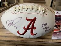 Eddie Jackson Autographed/Signed Football JSA COA  Alabama Crimson Tide Champs