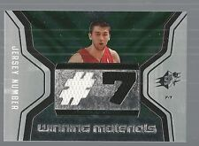 2007-08 SPx Winning Materials Jersey Numbers #AB Andrea Bargnani