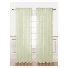 Ivory Sheer Window Curtain Panel 2Pc Set: Silky Chiffon, 55in x 84in