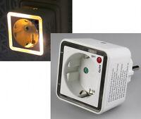 LED Nachtlicht mit Zwischenstecker 230 V ,2 warmweiße LED`s, Auto/ Off/ Auto 209