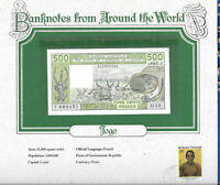 World Banknotes West African States Togo 1985 500 Francs UNC P-806Th Serie O.13