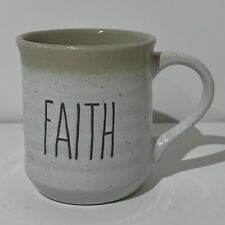 "Sheffield Home Large Coffee Mug Cup Engraved ""FAITH"""