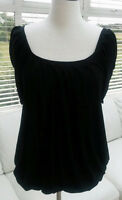 WOMENS MARKS AND SPENCER M&S LIMITED COLLECTION BLACK TOP SIZE 12
