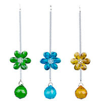 Glass Flower Crystal Suncatcher Window Hanging Pendant Ornament Xmas Gift