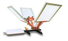 Machine Carrousel de Sérigraphie Professionnel 4 Couleurs 1 Plateau